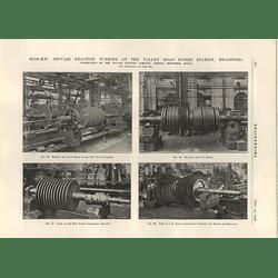 1926 20000 Kw Impulse Reaction Turbine, Bradford, Blading, Boring