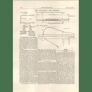1926 The Dolgarrog Dam Failure