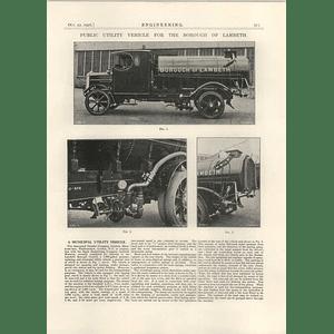 1926 Borough Of Lambeth Public Utility Vehicle, Daimler, Eagle