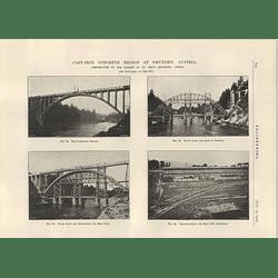 1926 Cast Iron Concrete Bridge At Gmunden, Austria, Fritz Emperger, Stages