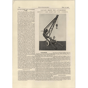 1926 Salvage Crane For Automobiles, Herbert Morris, Loughborough