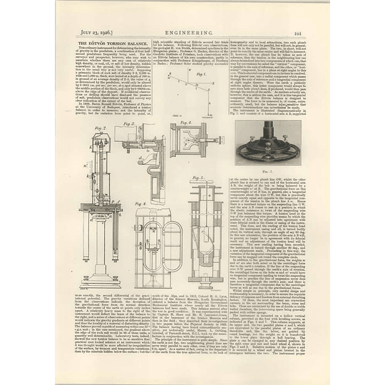 1926 The Eotvos Torsion Balance