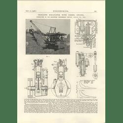 1926 Dragline Excavator Diesel Engine, North West Engineering Chicago