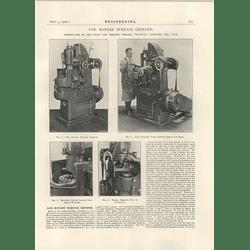 1926 8 Inch Rotary Surface Grinder, Pratt & Whitney Hertford Connecticut