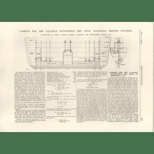 1926 Caissons For Canadian Dry Dock, Esquimalt, Bc