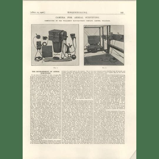 1926 Camera For Aerial Surveying, Williamson, Willesden