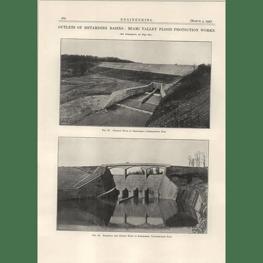 1927 Germantown Dam, Taylorsville Dam Miami Valley