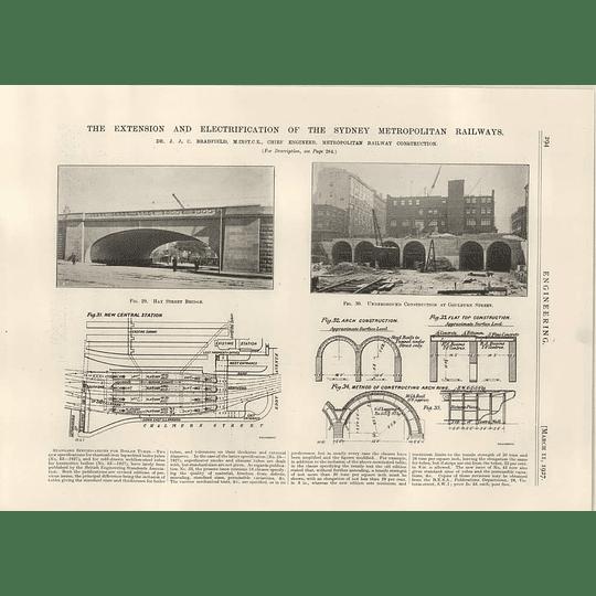 1927 Sydney Metropolitan Railways Hay St Bridge, Goulburn St