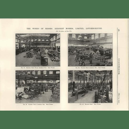 1927 Herbert Morris Works, Loughborough, Truck Assembly, Hoists