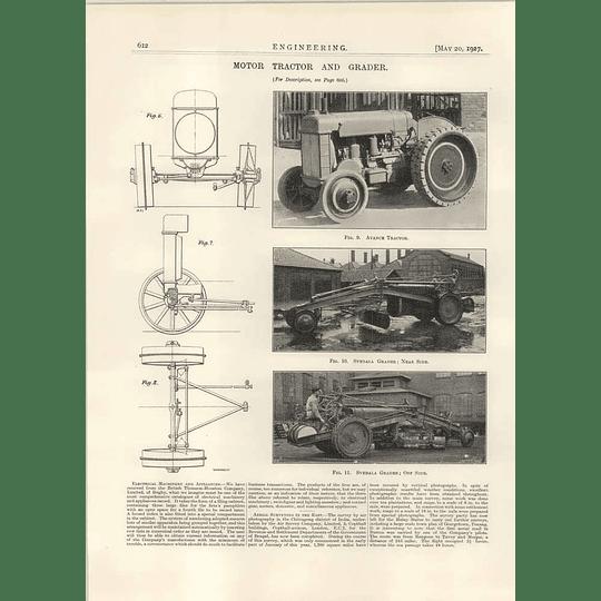 1927 Svedala Grader Avance Tractor Illustrations