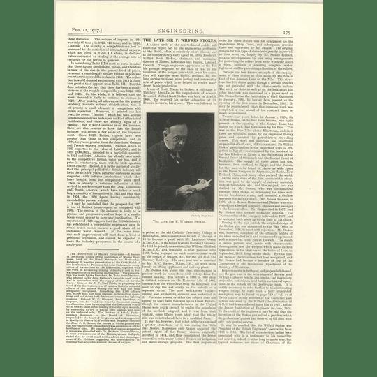 1927 Sir F Wilfrid Stokes, Sir James Kemnal, A F Baynham