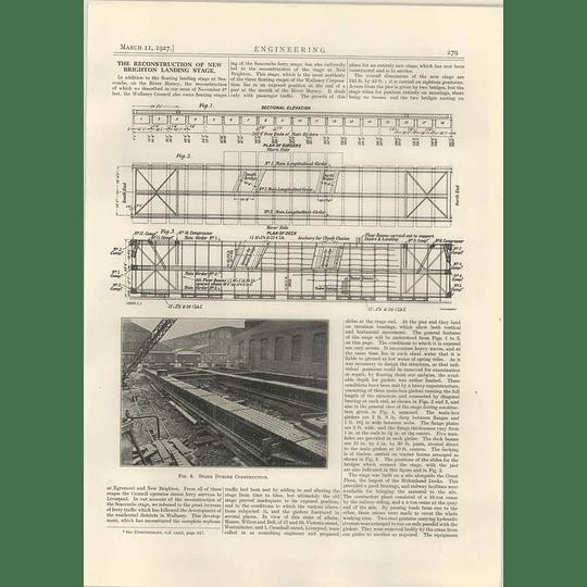 1927 Reconstruction Of New Brighton Landing Stage