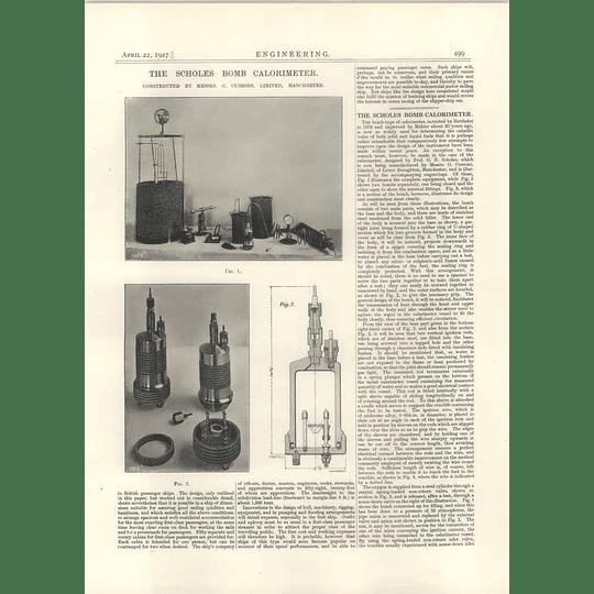 1927 The Scholes Bomb Calorimeter