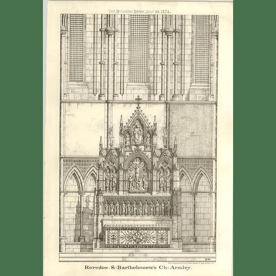 1874 St Bartholomew's Church, Armley, Reredos