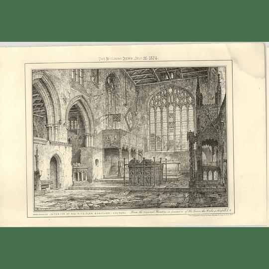 1874 Interior Of The Fitz- Alan Sanctuary, Arundel