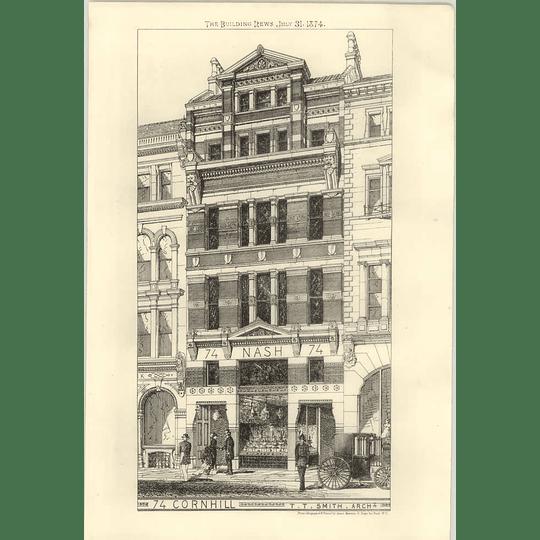 1874 74, Cornhill, Nash Premises, T.t. Smith Architect