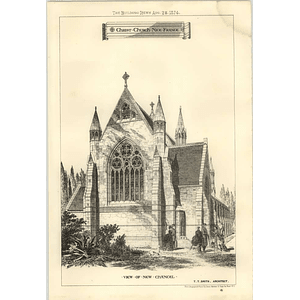 1874 Christ Church Nice France View Of New Chancel