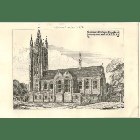 1874 New Church, Leamington Warwickshire George Gilbert Scott