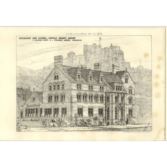 1874 Residence And School, Castle Mount, Dover