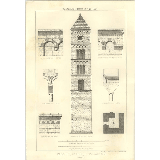 1874 Clocher Dit Tour De Puisalicon