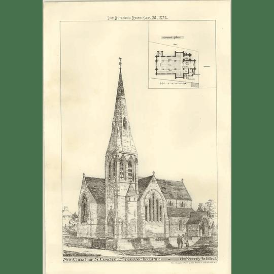 1874 New Church Of St Comghall, Strabane, Ireland, Kennedy Architect