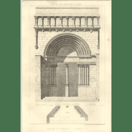 1874 Church Of St Martha At Tarascon Entrance Doorway