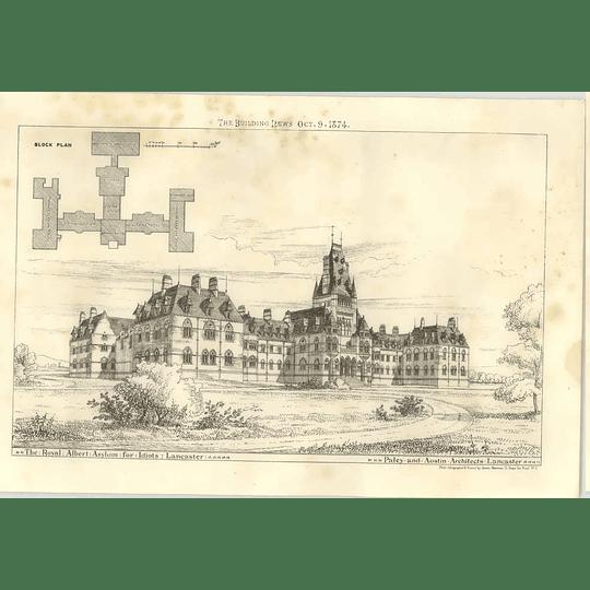 1874 The Royal Albert Asylum For Idiots, Lancaster