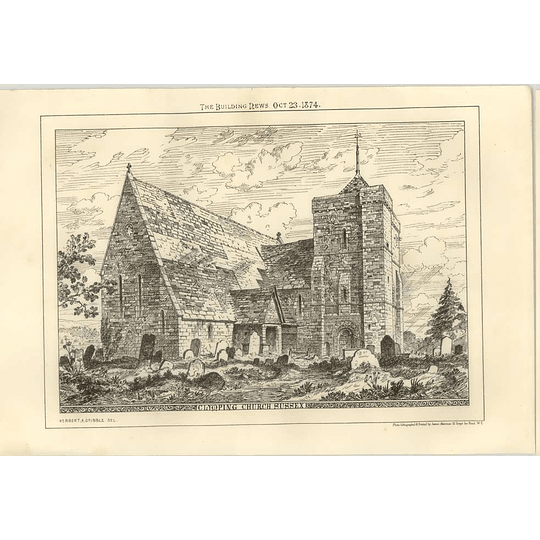 1874 Clymping Church Sussex, Exterior View