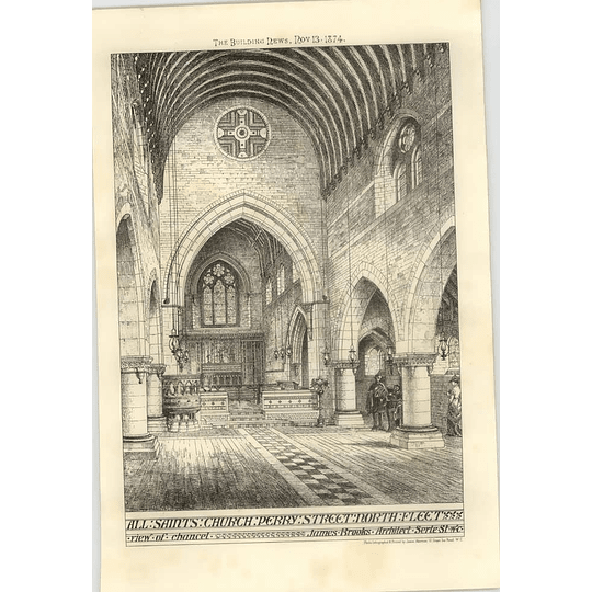 1874 All Sts Church, Perry Street, Northfleet, Interior View