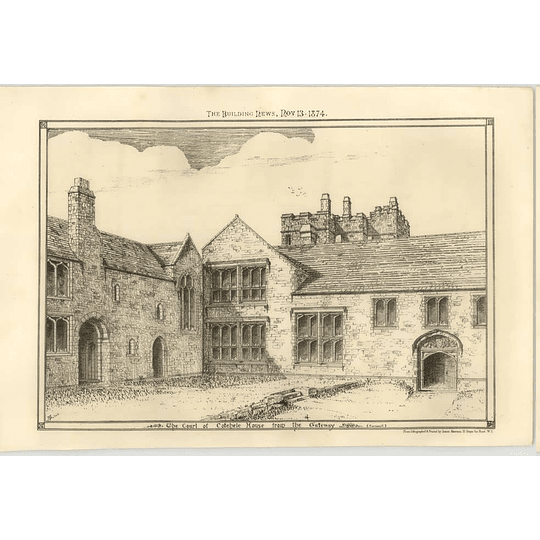 1874 The Cotehele House From The Gateway