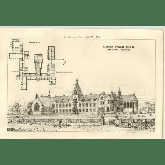 1874 Taunton College School, Design, Plan, Giles, Gane Architects