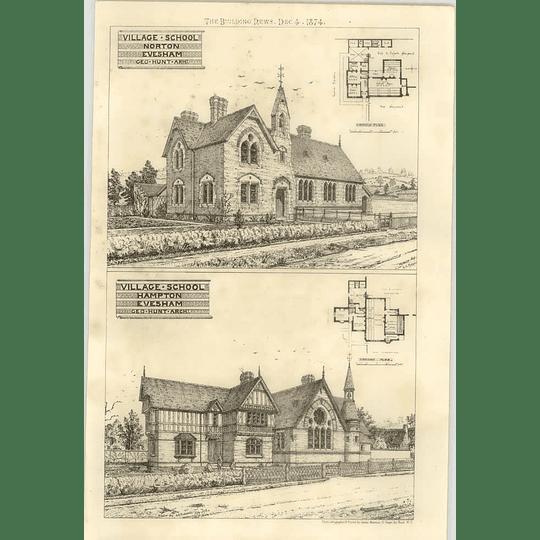 1874 Village Schools In Evesham, Norton And Hampton