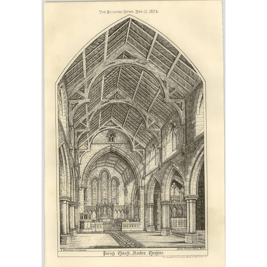 1874 Parish Church, Neston, Cheshire, Interior