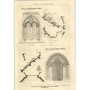 1874 Church Of St Mary, Warmington, Northamptonshire Plans