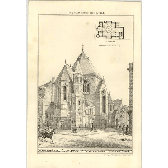 1874 St Saviours Church Oxford Street For The Deaf And Dumb Exterior View