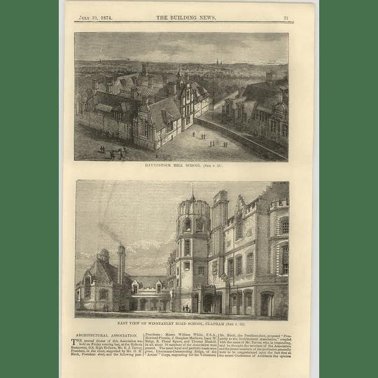 1874 Views Of Haverstock Hill School And Winstanley Road School