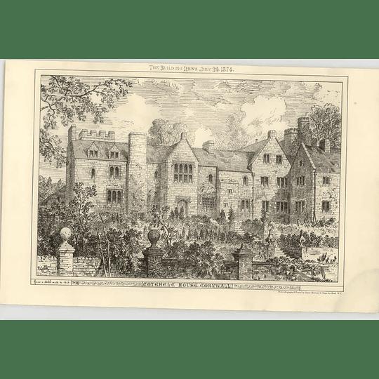 1874 Cotehele House, Cornwall Exterior View