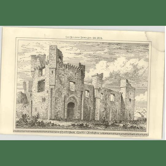 1874 Middleham Castle Yorkshire, Exterior View
