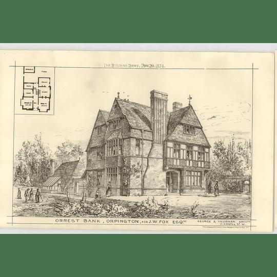 1874 Orrest Bank Orpington For Jw Fox Esq