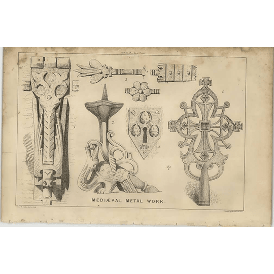 1869 Some Examples Of Mediaeval Metalwork