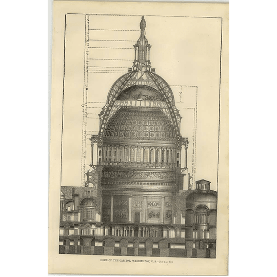 1869 The Dome Of The Capital, Washington Usa