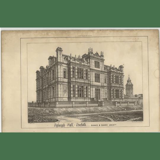 1869 Bylaugh Hall Norfolk, Banks Barry Architect