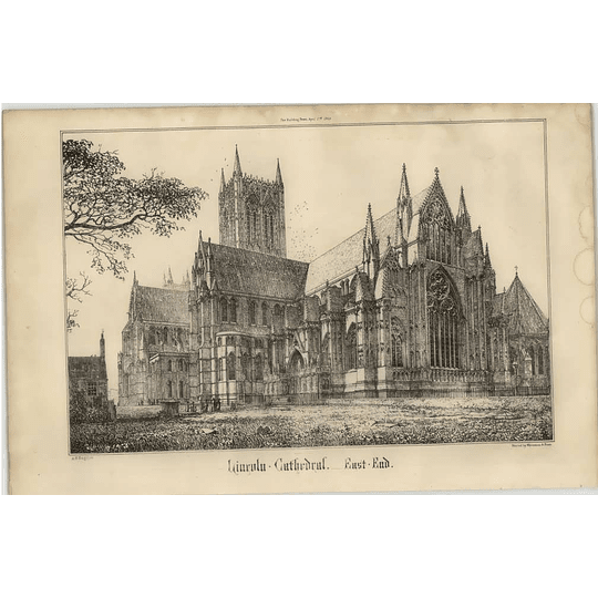 1869 View Of The East End Of Lincoln Cathedral