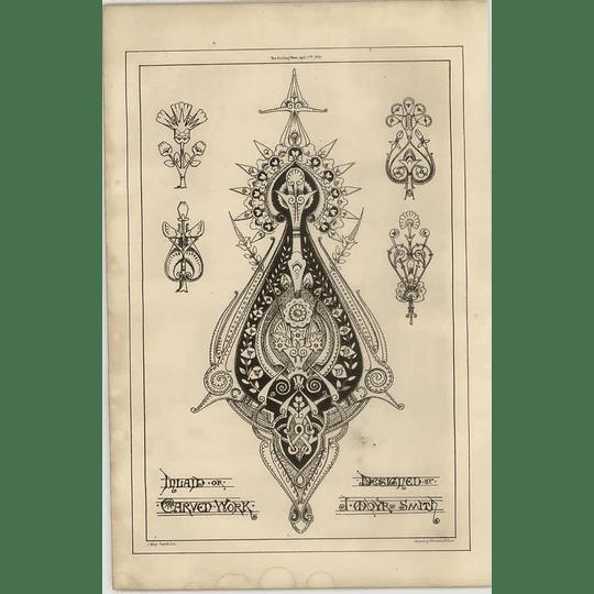 1869 Inlaid Walk Artwork Designed By J Moyr Smith