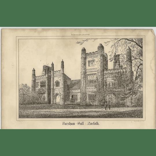 1869 Bursham Hall, Norfolk, Sketch