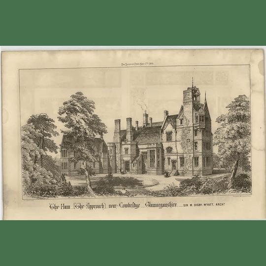 1869 The Ham, Approach, Near Cowbridge, Glamorgan Shire, Digby Wyatt Architect