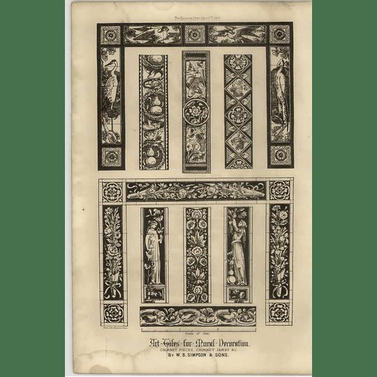 1869 Art Tiles For Mural Decoration, Chimney Pieces Et Cetera Wb Simpson