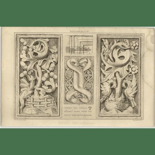 1869 Carved Oak Panels, 16th Century Work, South Kensington Museum
