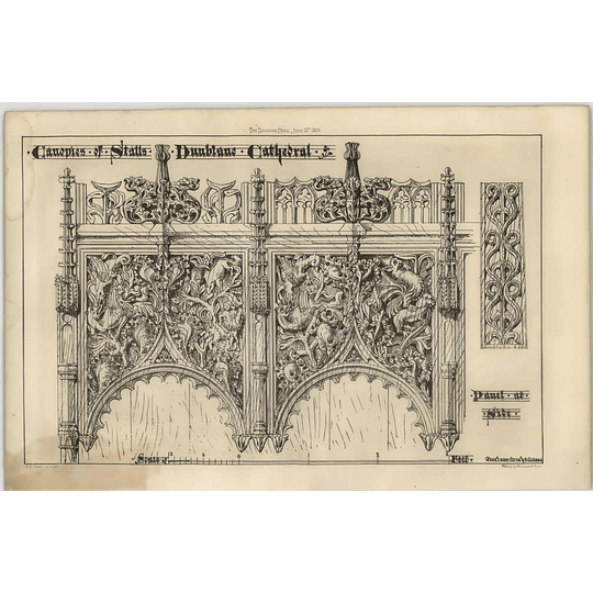 1869 Canopies Of Stalls, Dun Blane Cathedral, Panels
