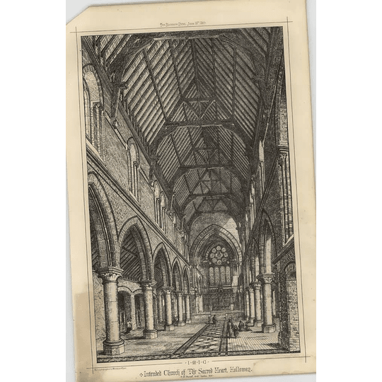 1869 Interior Of Intended Church Of The Sacred Heart Holloway